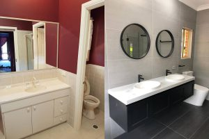 Before & After Completed Ensuite Renovation