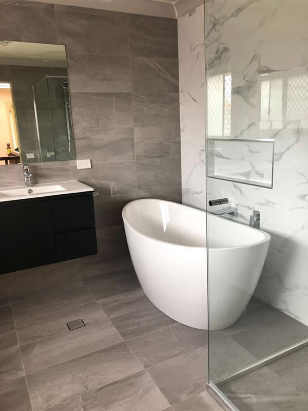 Cherrybrook – Completed Main Bathroom, Ensuite, Powder Room & Laundry