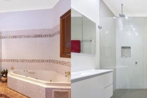 before and after bathroom renovation glenhaven