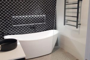 Luxury Fishscale Tiling feature in Rouse Hill
